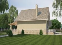 3D модель 2 - Проект дома 28+