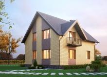 3D модель 2 - Проект дома 3+