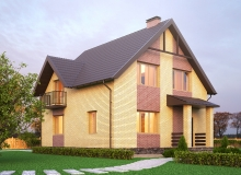 3D модель 3 - Проект дома 3+