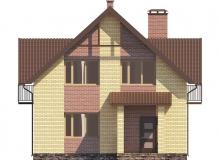 Фасад 1 - Проект дома 3+
