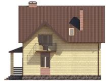 Фасад 2 - Проект дома 3+