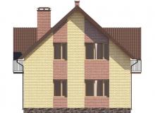 Фасад 3 - Проект дома 3+