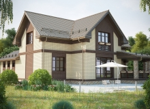 3D модель 3 - Проект дома 30+