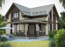 3D модель 4 - Проект дома 30+