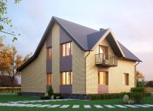 3D модель 2 - Проект дома 4+