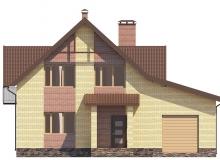 Фасад 1 - Проект дома 4+
