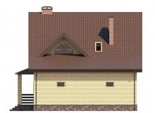 Фасад 2 - Проект дома 4+