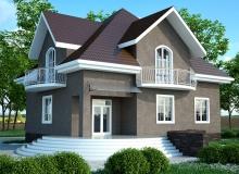3D модель 2 - Проект дома 5+