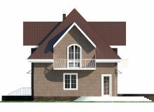 Фасад 2 - Проект дома 5+