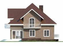 Фасад 3 - Проект дома 5+