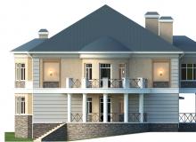 Фасад 3 - Проект дома 6+