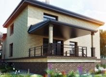 3D модель 3 - Проект дома 7+