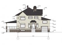 Фасад 1 - Проект дома 7+