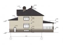 Фасад 2 - Проект дома 7+