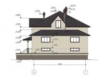 Фасад 3 - Проект дома 7+