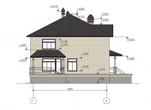 Фасад 4 - Проект дома 7+
