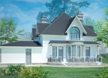 3D модель 2 - Проект дома 8+