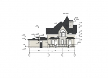 Фасад 2 - Проект дома 8+