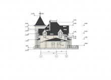 Фасад 4 - Проект дома 8+