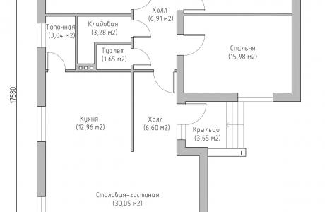 План первого этажа - Проект дома 10+