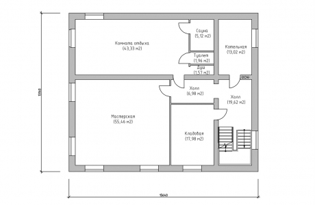 План первого этажа - Проект дома 11+