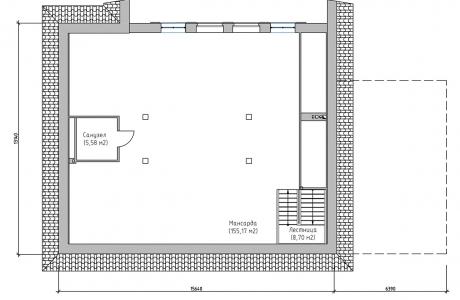 План третьего этажа - Проект дома 11+