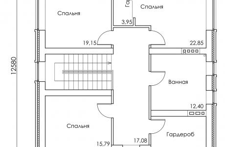План второго этажа - Проект дома 17+