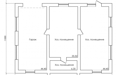План первого этажа - Проект дома 18+