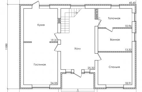План второго этажа - Проект дома 18+