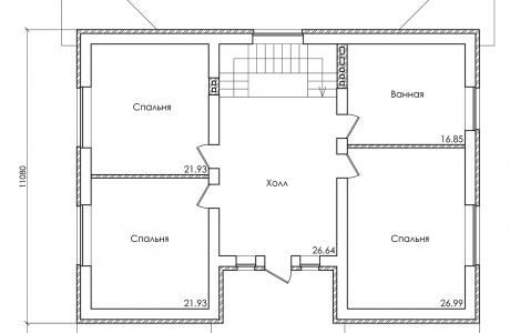 План третьего этажа - Проект дома 18+