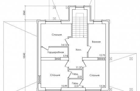 План второго этажа - Проект дома 19+