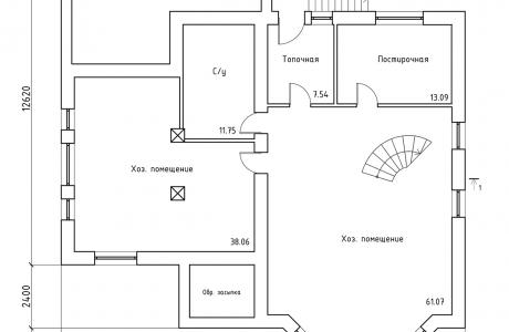 План первого этажа - Проект дома 20+