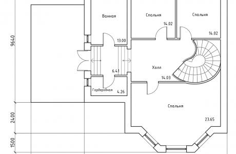 План третьего этажа - Проект дома 20+