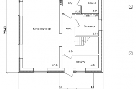 План первого этажа - Проект дома 21+