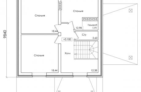 План второго этажа - Проект дома 21+