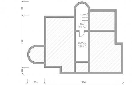 План первого этажа - Проект дома 23+