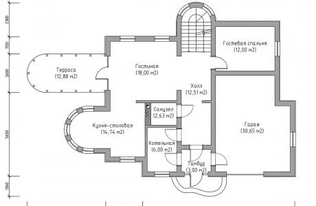 План второго этажа - Проект дома 23+