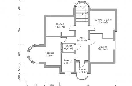 План третьего этажа - Проект дома 23+