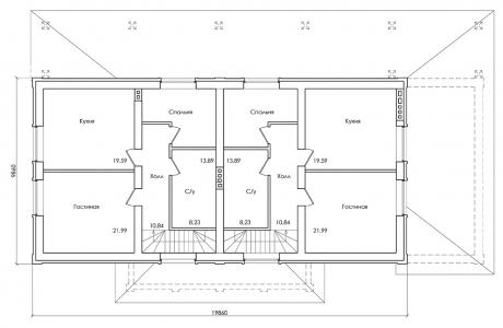 План второго этажа - Проект дома 24+