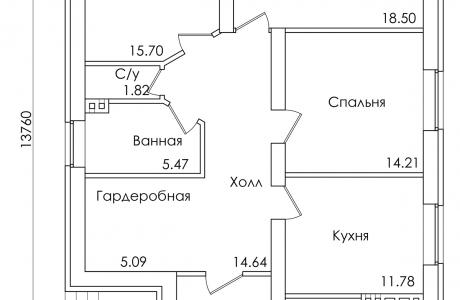 План первого этажа - Проект дома 26+