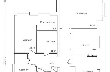 План первого этажа - Проект дома 27+