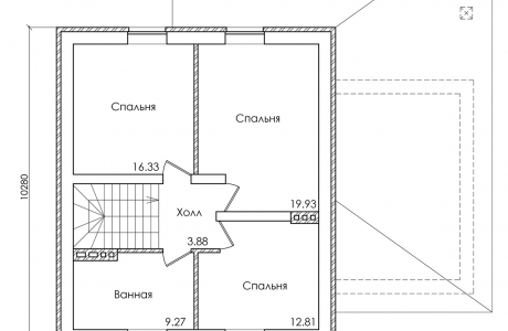 План второго этажа - Проект дома 28+