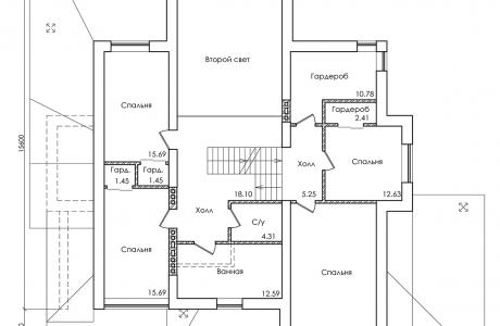План второго этажа - Проект дома 29+