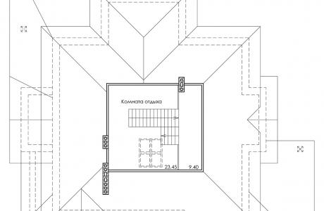 План третьего этажа - Проект дома 29+