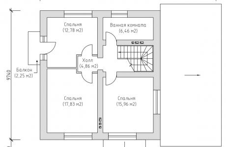 План второго этажа - Проект дома 4+
