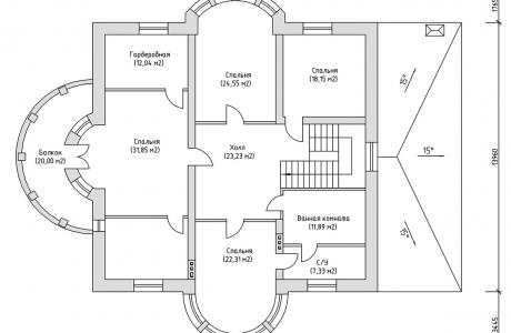 План второго этажа - Проект дома 6+