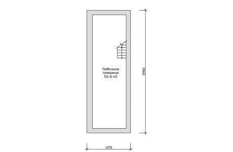 План подвального этажа - Проект дома 6+