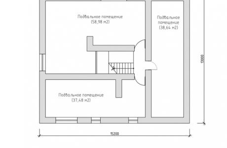 План подвального этажа - Проект дома 7+