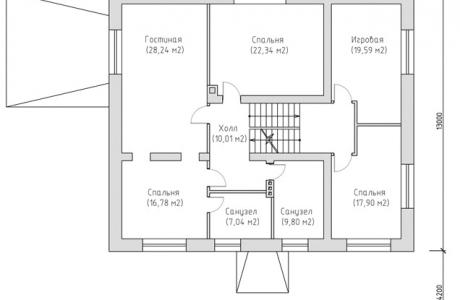 План второго этажа - Проект дома 7+