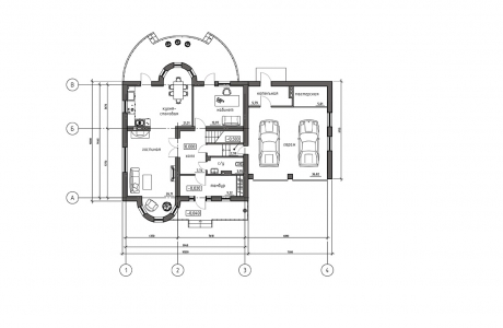План первого этажа - Проект дома 8+